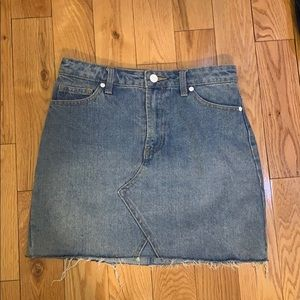 Forever 21 denim mini skirt